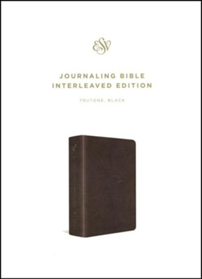 ESV Journaling Bible, Interleaved Edition (TruTone, Black), Imitation Leather, Multicolor  -