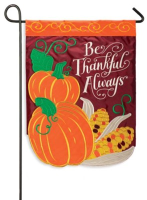 Be Thankful Always Applique Flag, Small  -