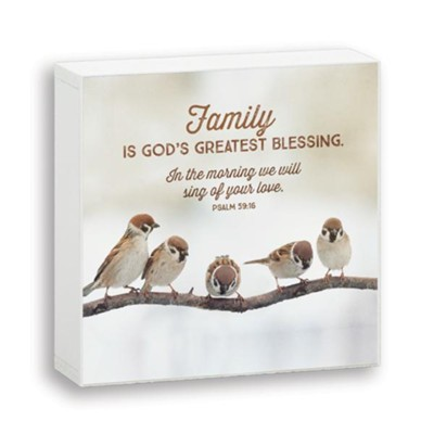 Family is God's Blessing, Box Plaque  -