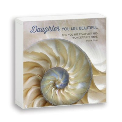 Daughter, You are Beautiful, Box Plaque  -