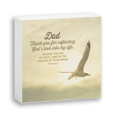 Dad, Thank You, Box Plaque  -