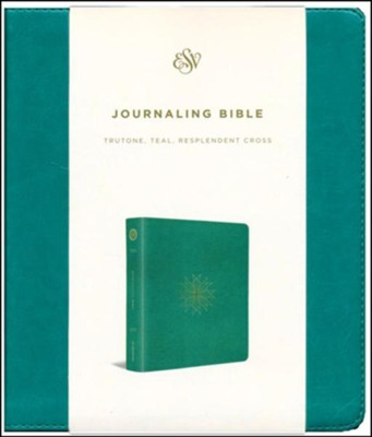 ESV 2-Column Journaling Bible, TruTone Teal, Imitation Leather   -