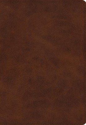 ESV Giant Print Bible (TruTone, Deep Brown), soft imitation leather  -