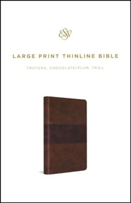 ESV Large Print Thinline Bible (TruTone, Chocolate/Plum, Trail Design), soft imitation leather  -
