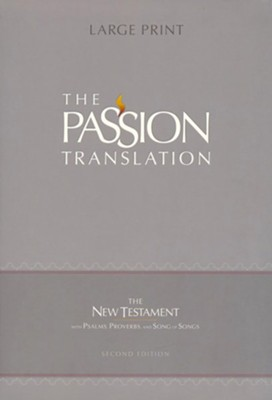 The Passion Translation (TPT): New Testament with Psalms, Proverbs, and Song of Songs - 2nd edition, large print,  imitation leather, black     -     By: Brian Simmons