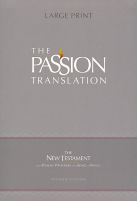 The Passion Translation (TPT): New Testament with Psalms, Proverbs, and Song of Songs - 2nd edition, large print,  imitation leather, brown    -     By: Brian Simmons