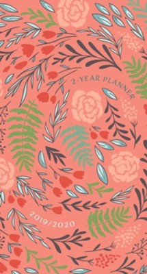 2019/2020 Coral Floral - 2-Year Pocket Planner  -