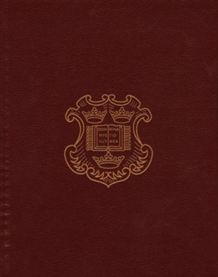 KJV Bible: 400th Anniversary Edition Genuine Leather Burgundy over Hardcover, Cloth Slipcase  -     By: Gordon Campbell
