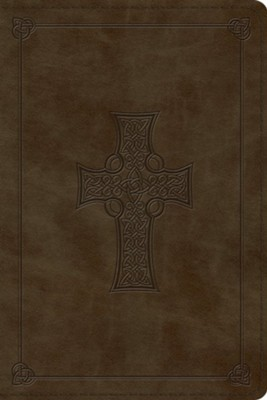 ESV Personal Reference Bible, TruTone, Olive, Celtic Cross Design  -
