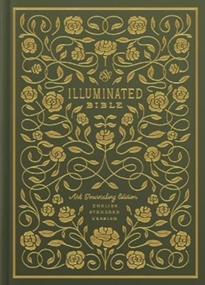 ESV Illuminated Bible, Art Journaling Edition, Green Hardcover  -