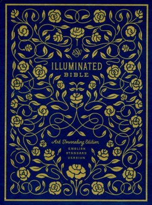 ESV Illuminated Bible, Art Journaling Edition, Blue Clothbound Hardcover with Slipcase  -