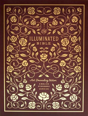 ESV Illuminated Bible, Art Journaling Edition, Burgundy Imitation Leather  -