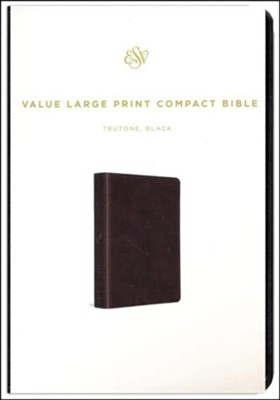 ESV Value Large Print Compact Bible (TruTone Imitation Leather, Black)  -