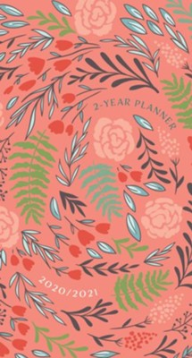 2020-2021 Coral Floral 2-Year Pocket Planner   -