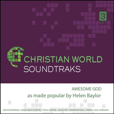 Awesome God Accompaniment CD  -     By: Helen Baylor
