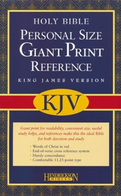 KJV Personal Size Giant Print Reference Bible, bonded  leather, black  -