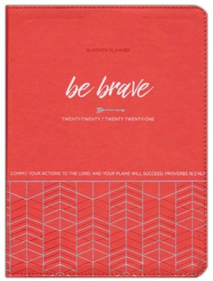 2021 Be Brave 18-Month Planner with Zipper  -