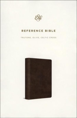 ESV Reference Bible (TruTone, Olive, Celtic Cross Design)  -
