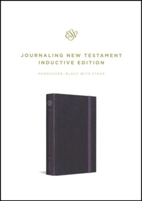 ESV Journaling New Testament, Inductive Edition (Black with Strap)  -