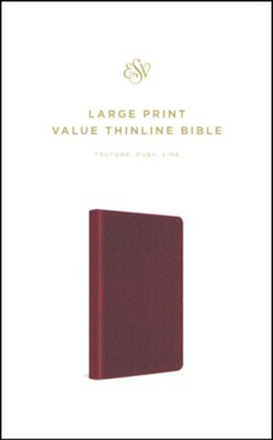 ESV Large Print Value Thinline Bible (TruTone, Ruby, Vine Design)  -