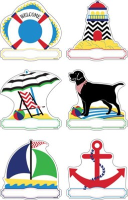 Chevron Nautical Double-Sided Accents (Pack of 36)   -