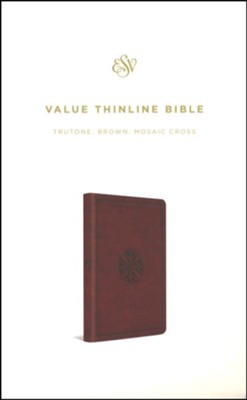 ESV Value Thinline Bible (TruTone, Brown, Mosaic Cross Design)  -