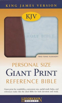 KJV Personal Size Giant Print Reference Bible, Chocolate/Blue  -