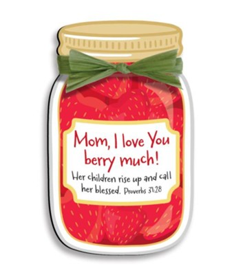 Mom, I Love You Berry Much Magnet  -