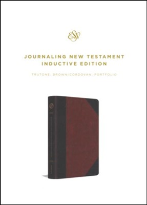 ESV Journaling New Testament, Inductive Edition (TruTone, Brown/Cordovan, Portfolio Design)  -