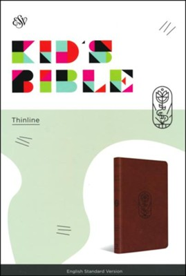 ESV Kid's Thinline Bible, TruTone Imitation Leather, Brown with The True Vine Design  -
