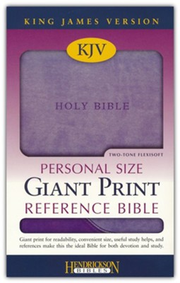 The KJV Personal-Size Giant-Print Reference Bible, Lilac/Violet Flexisoft  -