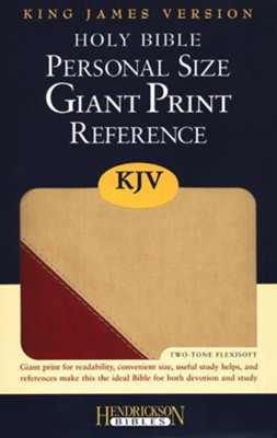 The KJV Personal-Size Giant-Print Reference Bible, Brick Red/Sand Flexisoft  -