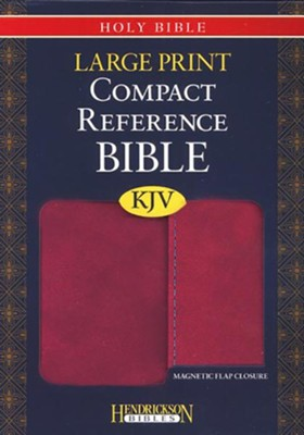 KJV Large Print Compact Reference Bible with Flap Flexisoft Berry  -