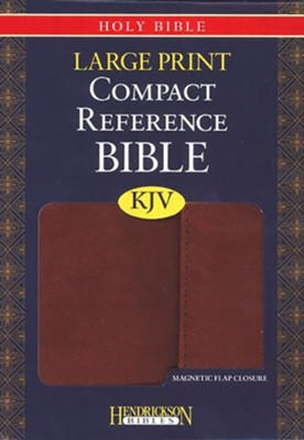 KJV Compact Large Print Reference Bible with Flap Flexisoft  Espresso  -