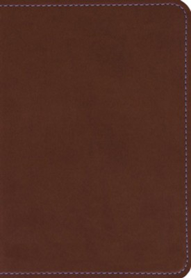 KJV Compact Large Print Reference Bible, Flexisoft Espresso   -