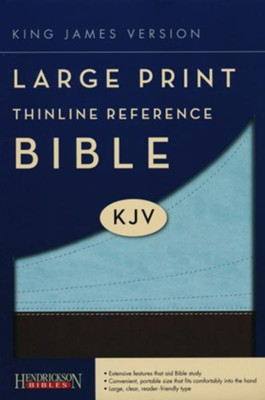 KJV Large Print Thinline Reference Bible Flexisoft chocolate/blue  -