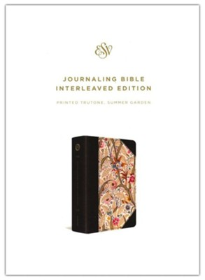 ESV Journaling Bible, Interleaved Edition--Imitation  leather with summer garden design     -
