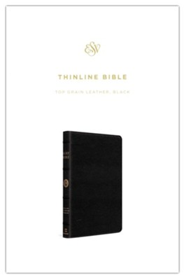 ESV Thinline Bible--top-grain leather, black - Imperfectly Imprinted Bibles  -