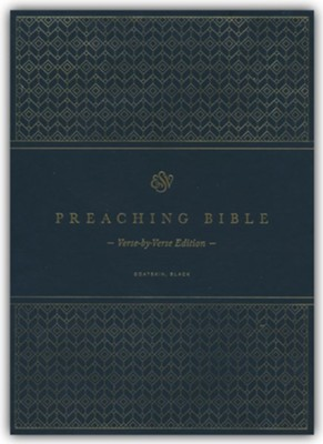 ESV Preaching Bible, Verse-by-Verse Edition--goatskin leather, black  -