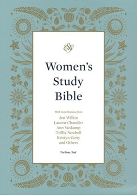 ESV Women's Study Bible--soft leather-look, teal  -