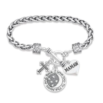 Love You To the Moon and Back Bracelet, Mamaw  -