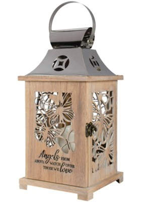 Angels from Above--LED Memorial Lantern  -