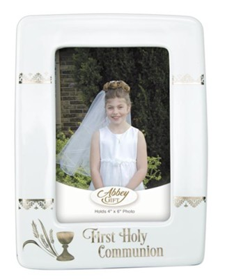 First Holy Communion Photo Frame, White  -