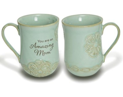Amazing Mom Pottery Mug  -