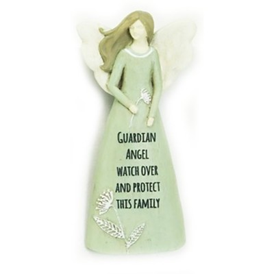 Guardian Angel Watch Over and Protect This Family Angel Visor Clip  -