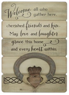 Irish Welcome, Claddagh, Plaque  -