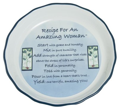 Recipe for an Amazing Woman Pie Plate  -