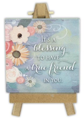 It's A Blessing to Have A True Friend in You Mini Plaque  -