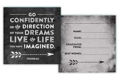 Go Confidently in the Direction of Your Dreams, 2-Sided Block Art, Black  -