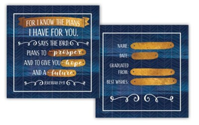 For I Know the Plans I Have for You, 2-Sided Block Art, Blue  -